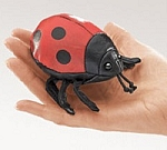 Disc. Ladybug Finger Puppet T2726 by Folkmanis