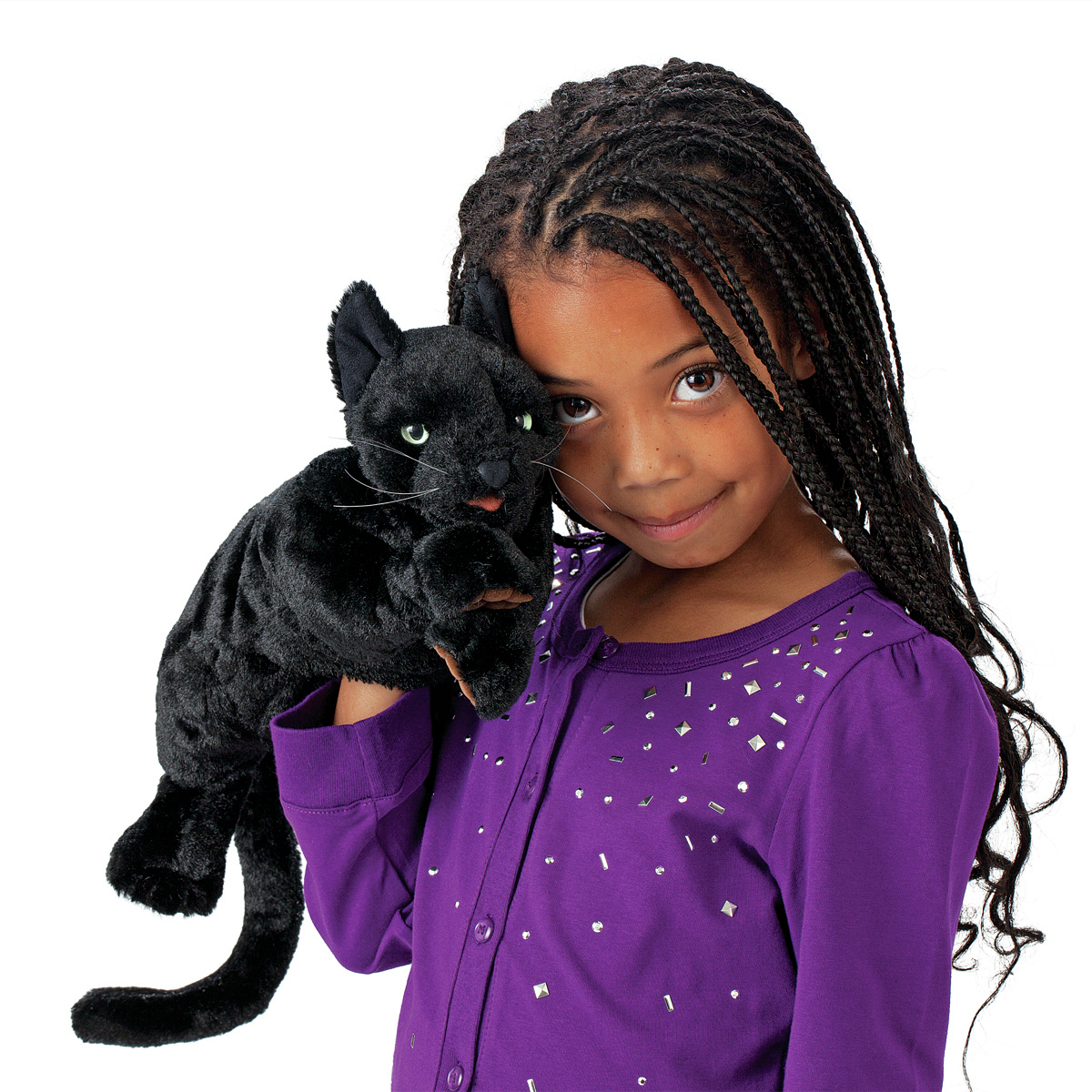 Black Cat Hand Puppet by Folkmanis Puppets