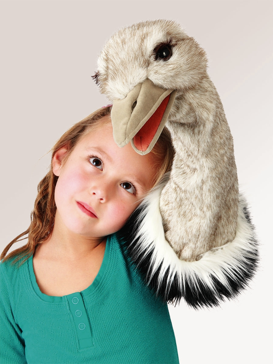 ostrich stage bird puppet by folkmanis puppets