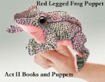 Red Legged Frog Finger Puppet by Folkmanis 2673