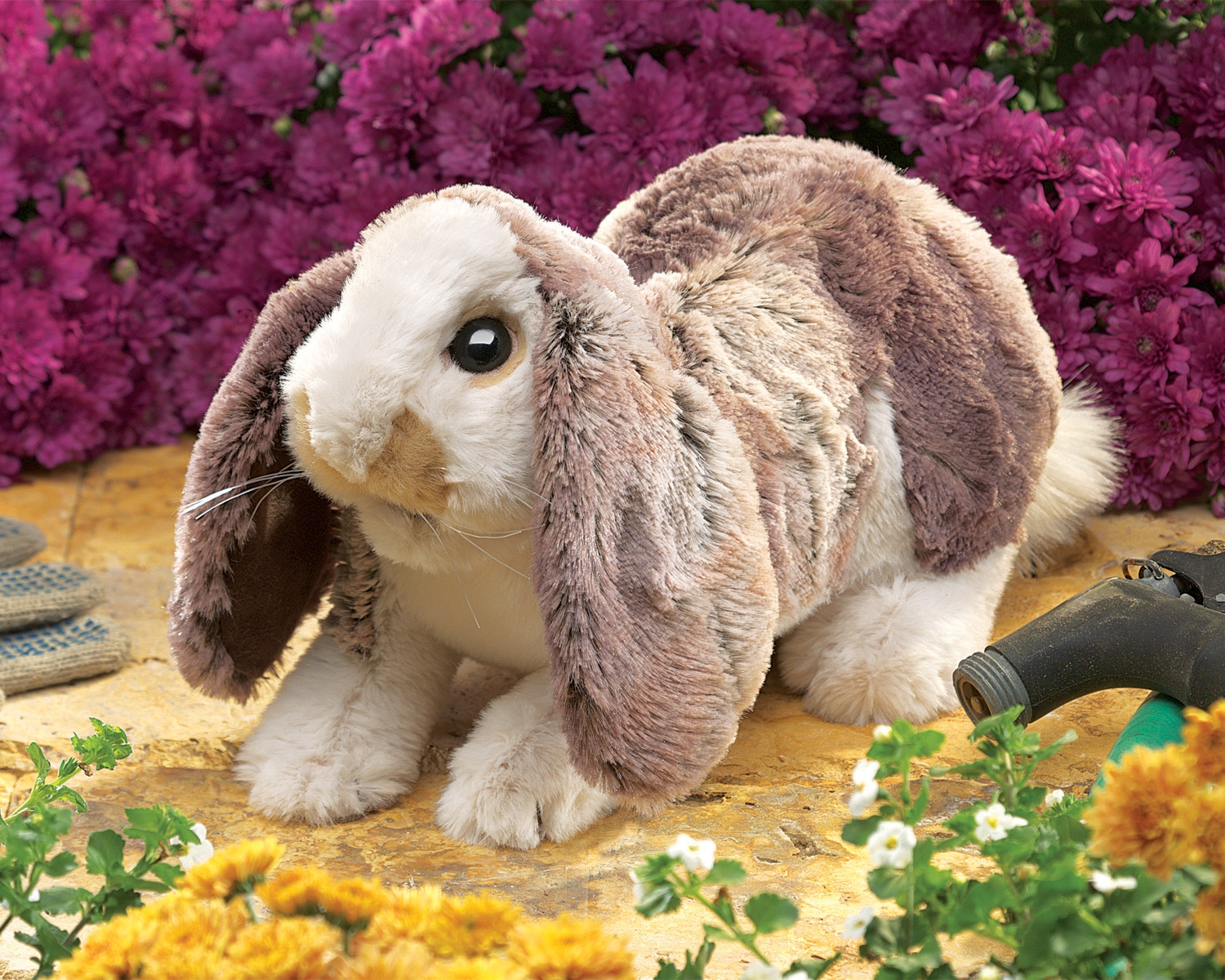 Baby Lop Rabbit Hand Puppet With Movable Mouth And Front