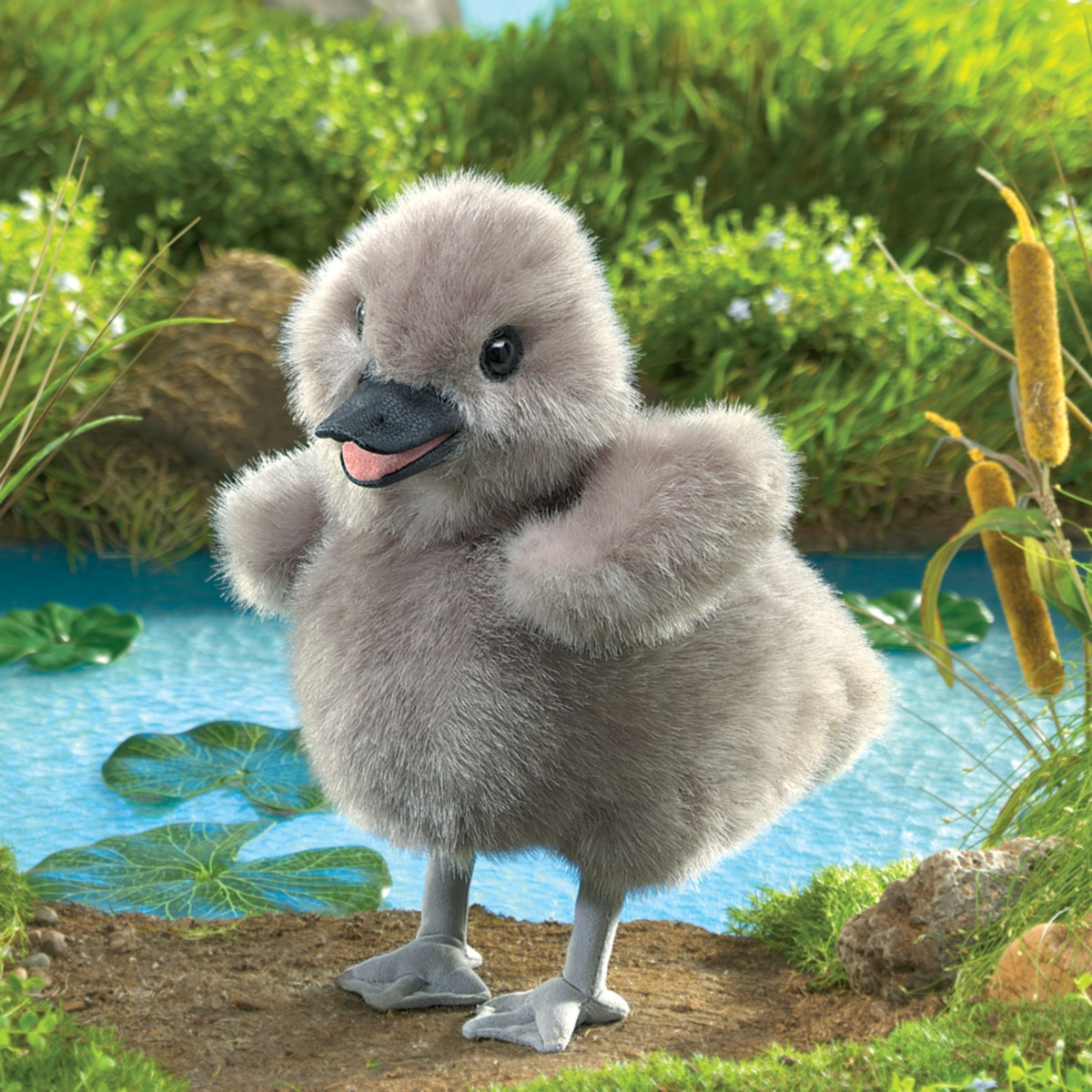 Baby Swan Hand Puppet By Folkmanis Puppets