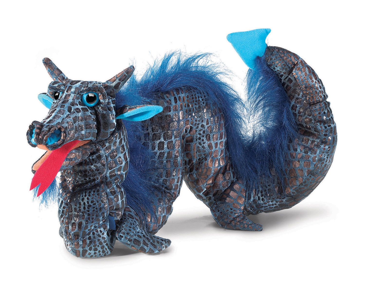 Blue Sea Serpent Dragon Hand Puppet by Folkmanis 3049