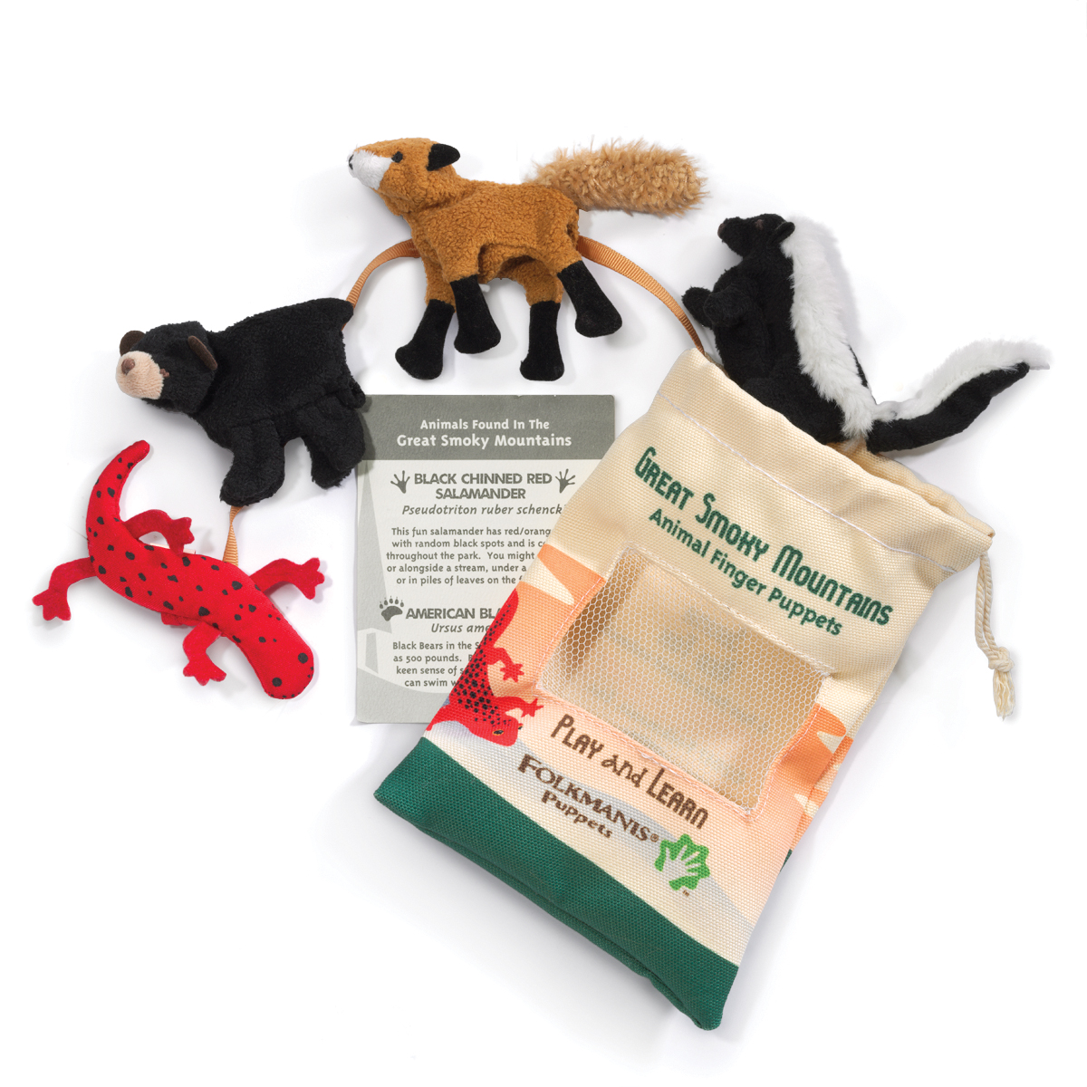 Great Smoky Mountain Animal Set of Four Finger Puppets 2784