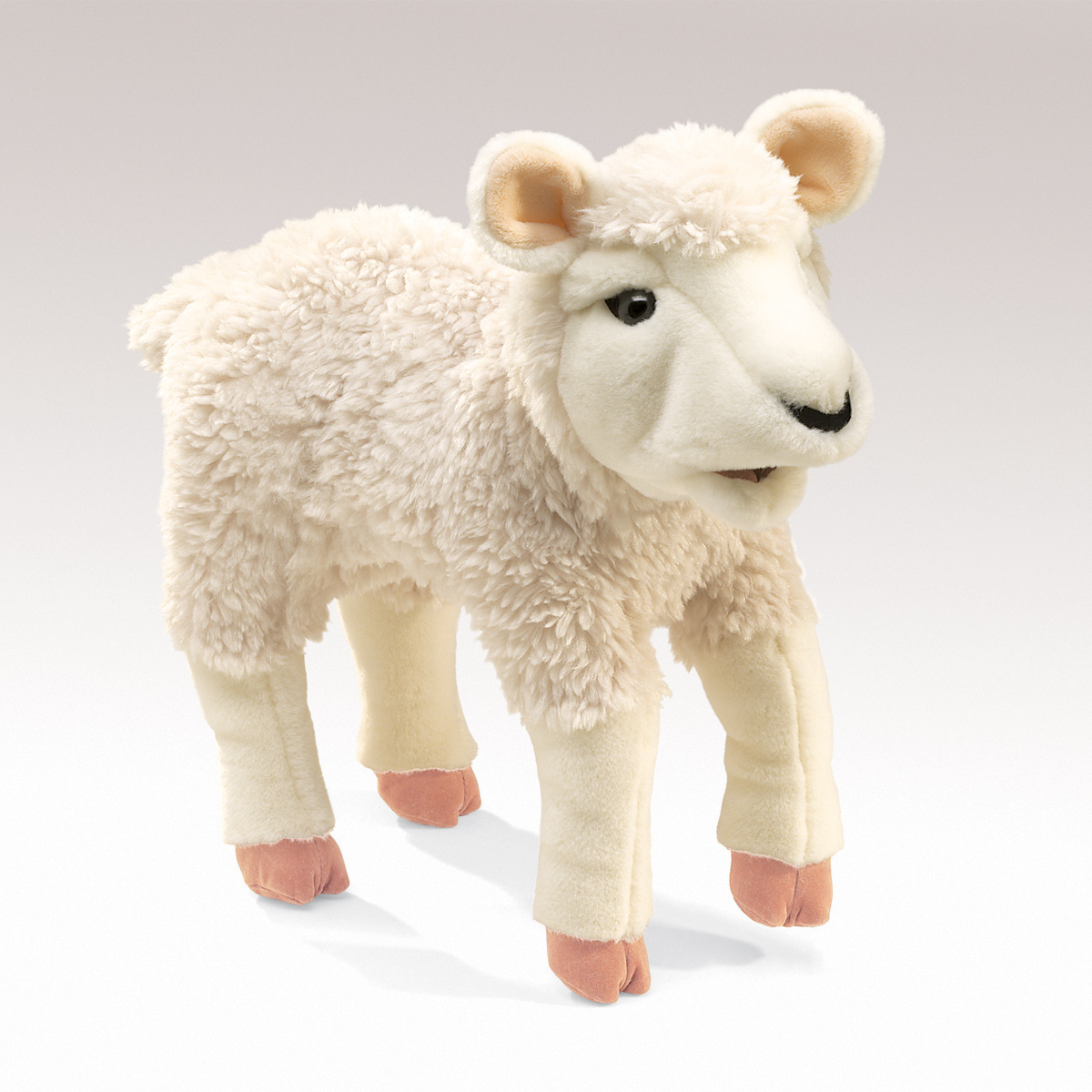 lamb hand puppet by folkmanis puppets