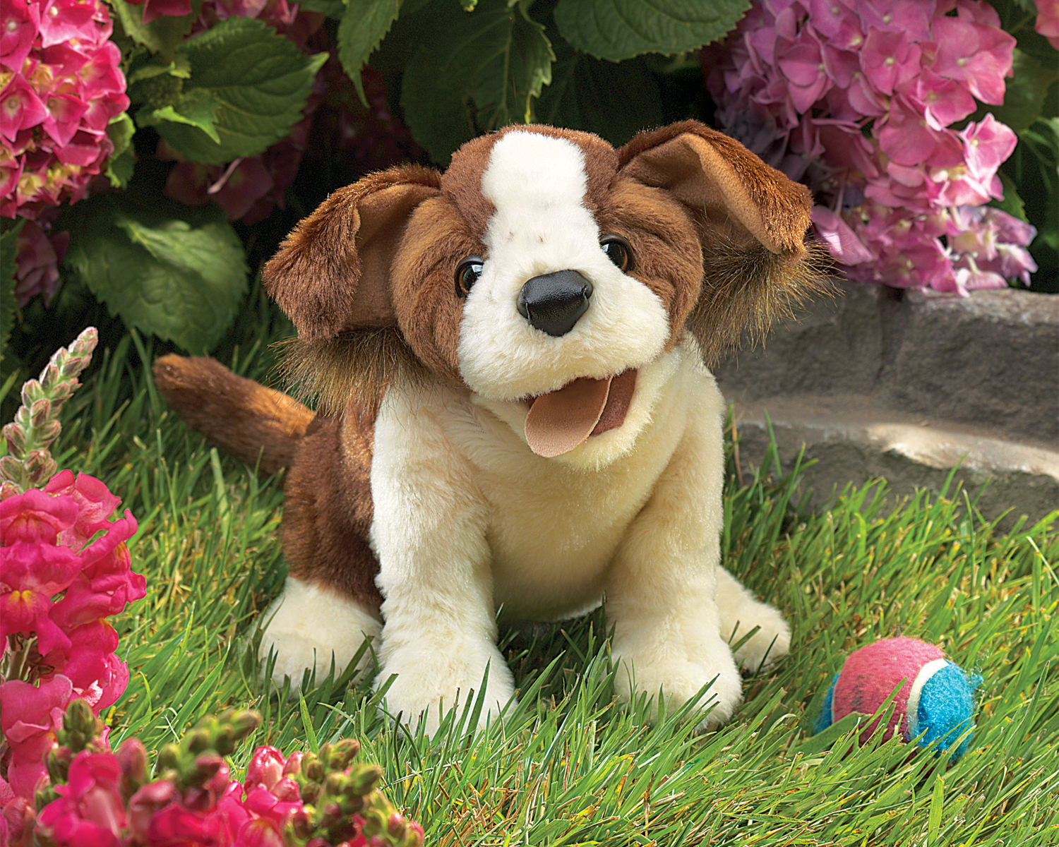 Part P Certificate >> Lucky Dog Hand Puppet by Folkmanis Puppets
