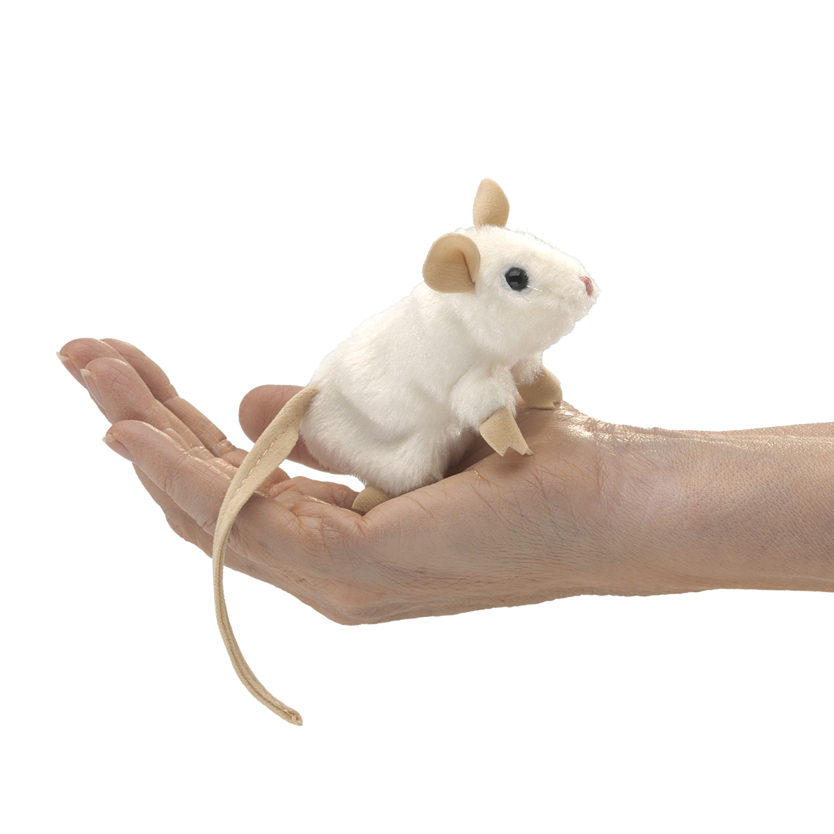 White Mouse Finger Puppet by Folkmanis 2776