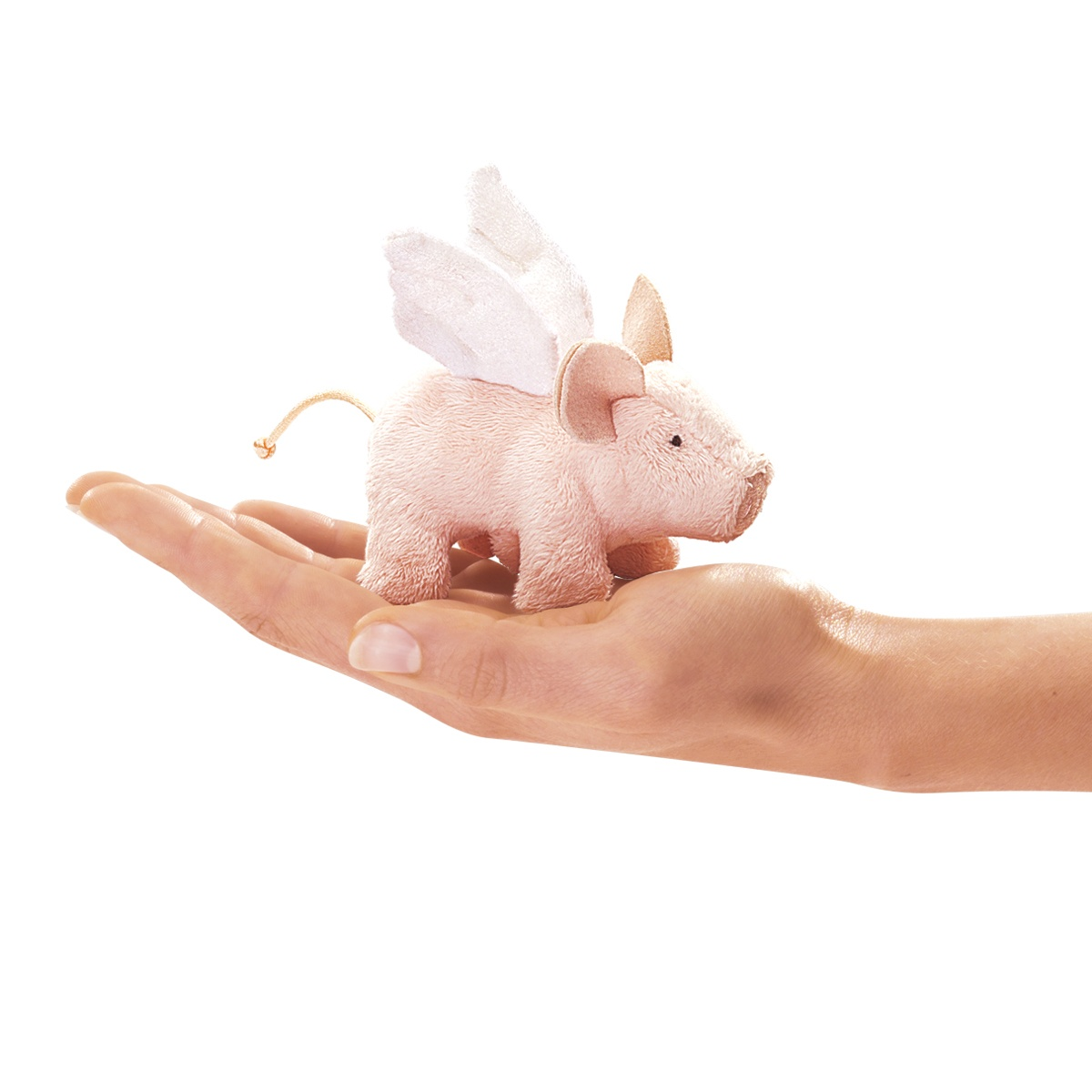 Winged Piglet or Flying Pig Finger Puppet by Folkmanis