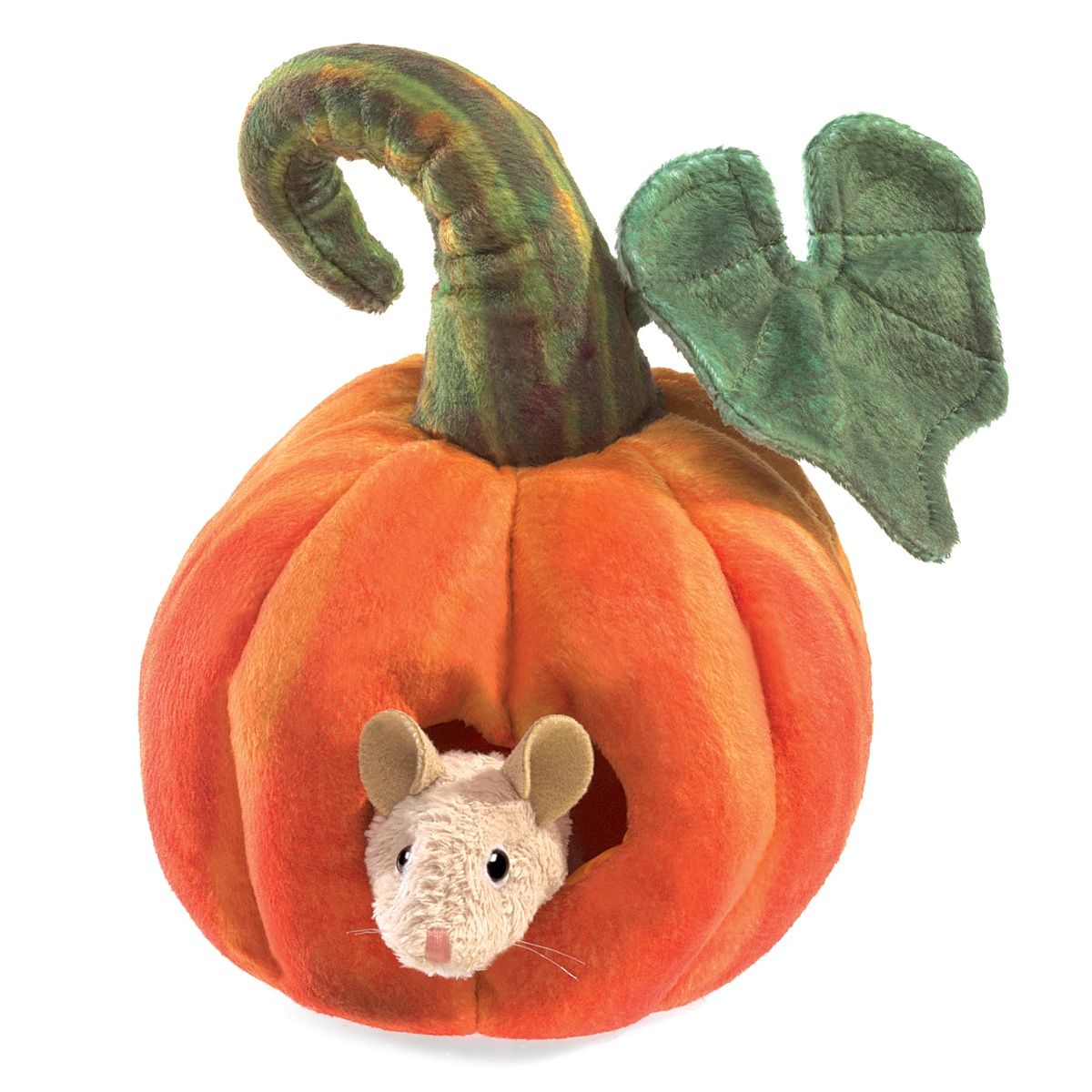 Mouse in Pumpkin Hand Puppet by Folkmanis 3118