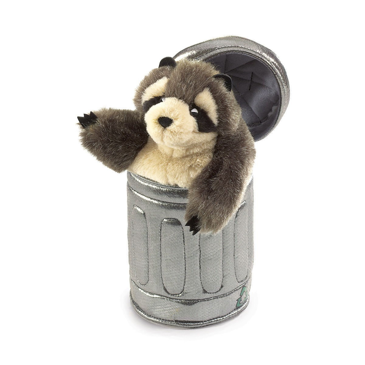 Raccoon in Garbage Can Puppet by Folkmanis