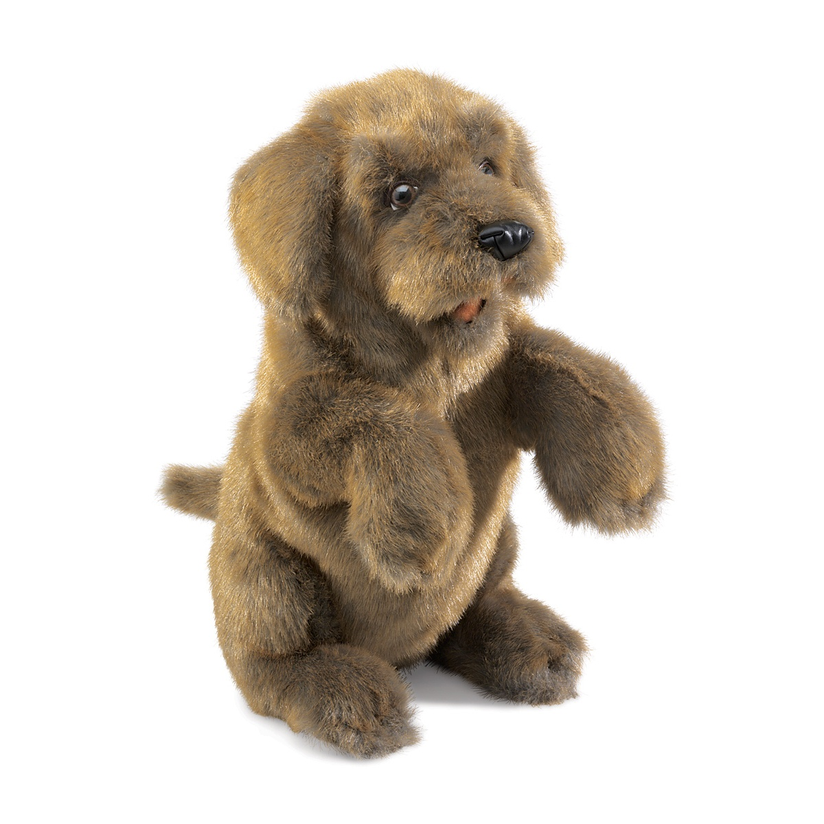 Sitting Dog Hand Puppet by Folkmanis Puppets