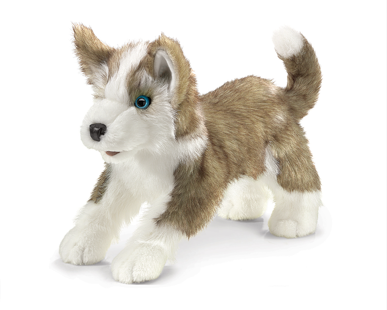 wolf pup hand puppet by folkmanis puppets