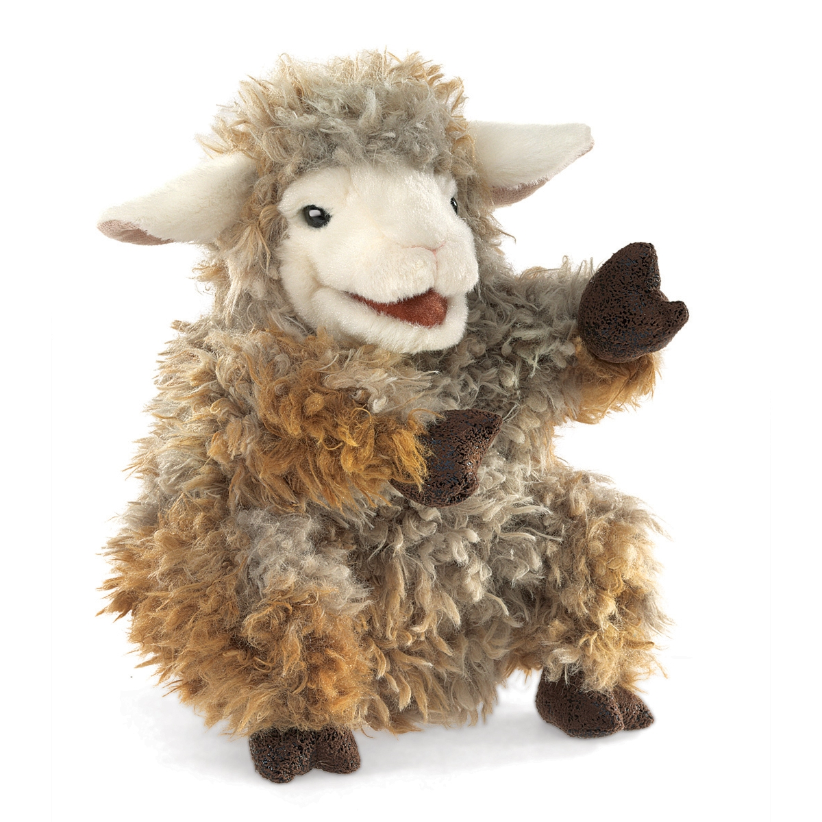 woolly lamb sheep puppet by folkmanis puppets