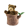 Bear in Tree Stump Puppet by Folkmanis