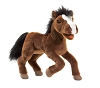 Brown Horse Hand Puppet with white blaze by Folkmanis
