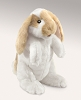 Standing Lop Rabbit Hand Puppet by Folkmanis