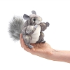 Chinchilla Finger Puppet by Folkmanis 2759 Disc.