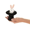 White Rabbit in Hat Finger Puppet by Folkmanis
