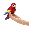 Scarlet Macaw Bird Finger Puppet by Folkmanis