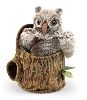 Owlet in Tree Stump Puppet by Folkmanis Disc