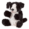 Small Black and White Dog Hand Puppet by Folkmanis