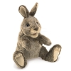 Small Cottontail Rabbit Hand Puppet