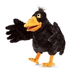 Yellow Beaked Crow Hand Puppet by Folkmanis Disc.
