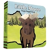 Little Moose Board Book with Moose Finger Puppet