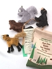 Woodland Animal Set of Four Finger Puppets