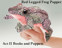 Red Legged Frog Finger Puppet by Folkmanis Disc.