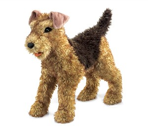 Airedale Terrier Dog Hand Puppet by Folkmanis 2993