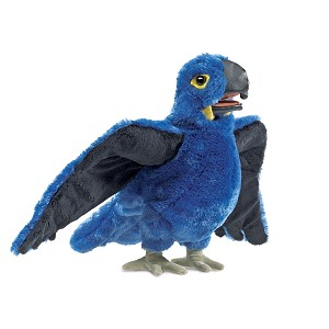 Blue Macaw Bird Hand Puppet by Folkmanis Puppets