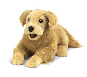 Golden Retriever Hand Puppet by Folkmanis