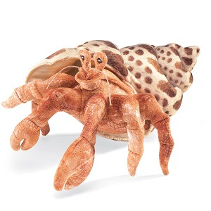 Large Hermit Crab Puppet by Folkmanis