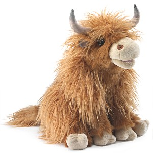 Highland Cow Puppet by Folkmanis 3167