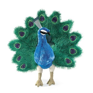 Peacock Hand Puppet by Folkmanis Disc.