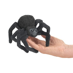 Black Spider Finger Puppet by Folkmanis