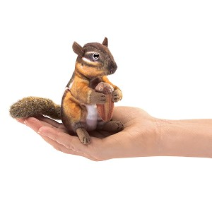 Chipmunk Finger Puppet with Acorn by Folkmanis