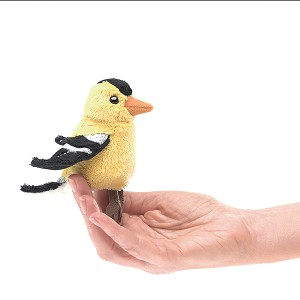 Goldfinch Bird Finger Puppet by Folkmanis 2762 Disc