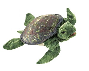 Sea Turtle Hand Puppet by Folkmanis Puppets 3036
