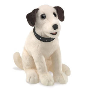 Sitting Terrier Dog Hand Puppet by Folkmanis 3132