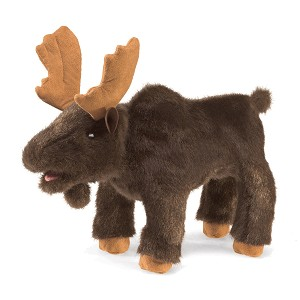 Small Moose Hand Puppet by Folkmanis