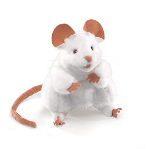 White Mouse Hand Puppet by Folkmanis MPN 2219
