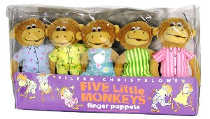 Five LIttle Monkeys Finger Puppets by MerryMakers