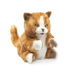 Orange Tabby Kitten Cat Puppet by Folkmanis